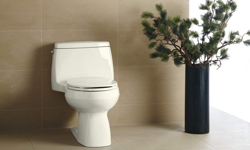 Comfort Height Elongated White Toilet