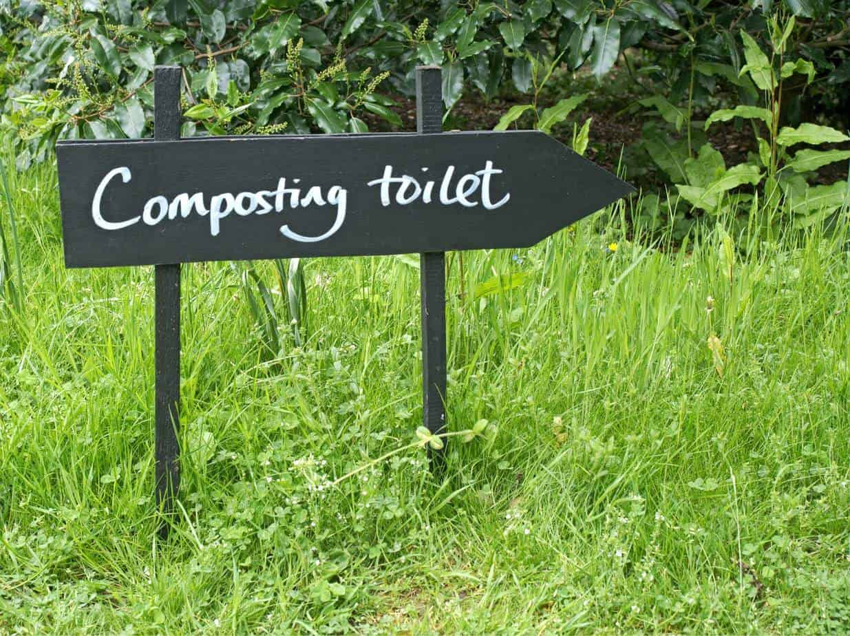 composting toilet signpost