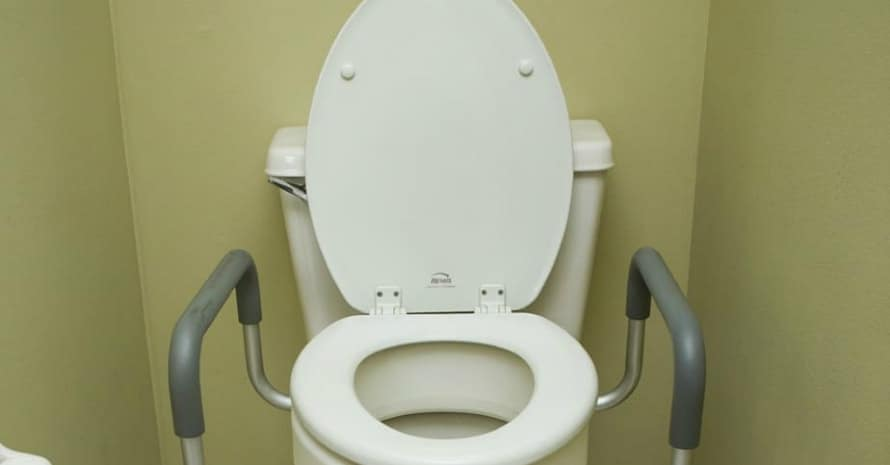 Carex 35 Inch Raised Toilet Seat with Arms