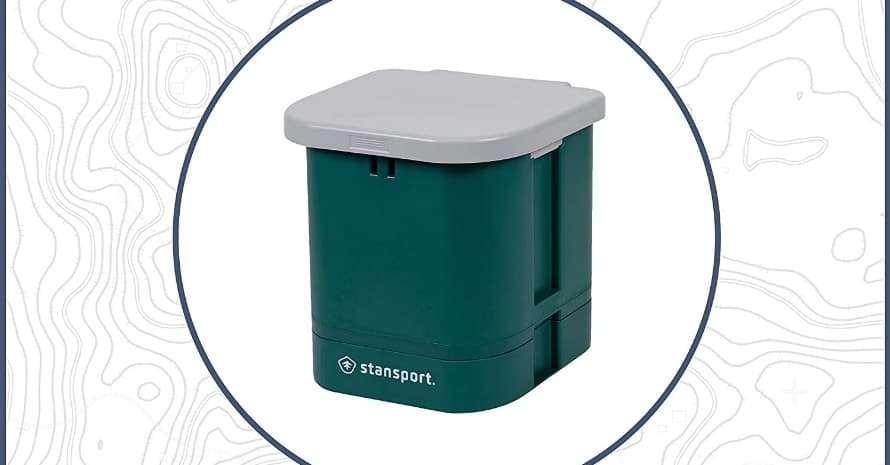 STANSPORT Portable Camp Toilet 14 x 14 x 14 in Green