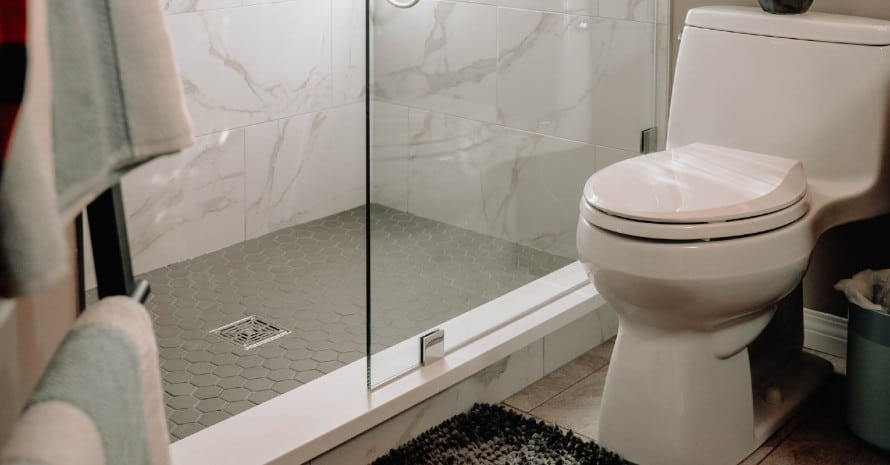 10 inch rough in toilet in bathroom