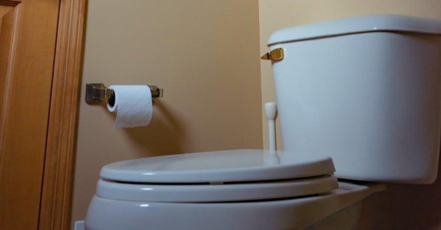 budget toilet, close view