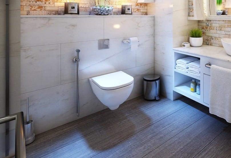 modern tankless toilet