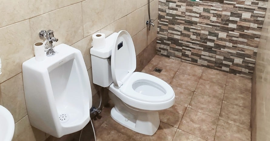 modern toilet in a bathroom