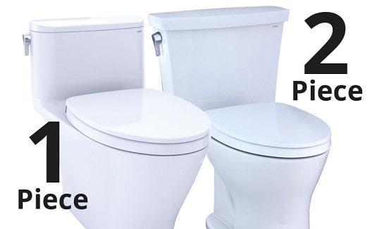 one piece toilet vs two piece
