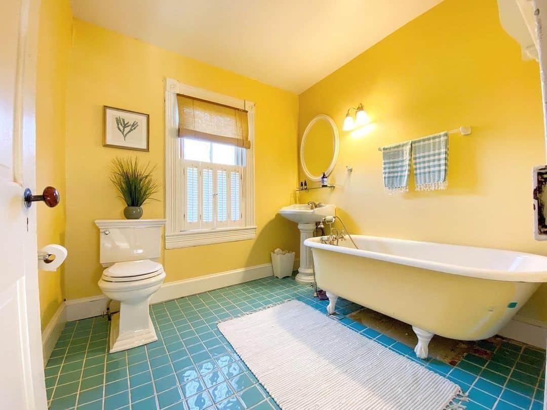 kohler memoirs in yellow bathroom